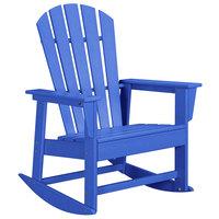 POLYWOOD SBR16PB Pacific Blue South Beach Rocking Chair