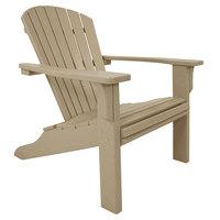 POLYWOOD SH22SA Sand Seashell Adirondack Chair