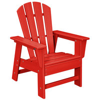 POLYWOOD SBD12SR Sunset Red Kids Casual Chair
