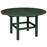 POLYWOOD RKT38GR Green 38 inch Round Kids Dining Table