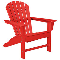 POLYWOOD SBA15SR Sunset Red South Beach Adirondack Chair