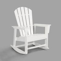 POLYWOOD SBR16WH White South Beach Rocking Chair