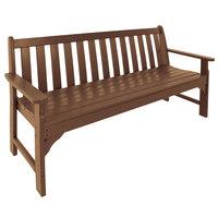 POLYWOOD GNB60TE Teak 60 1/2 inch x 24 inch Vineyard Bench
