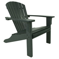 POLYWOOD SH22GR Green Seashell Adirondack Chair