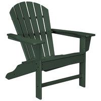 POLYWOOD SBA15GR Green South Beach Adirondack Chair