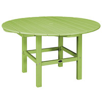 POLYWOOD RKT38LI Lime 38 inch Round Kids Dining Table