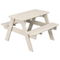 POLYWOOD KT130SA Sand 30 inch x 33 inch Kids Picnic Table with Seating