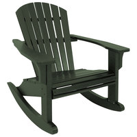 POLYWOOD SHR22GR Green Seashell Rocking Chair