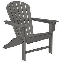 POLYWOOD SBA15GY Slate Grey South Beach Adirondack Chair