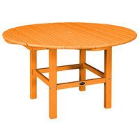 POLYWOOD RKT38TA Tangerine 38 inch Round Kids Dining Table