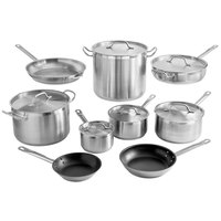 Vigor 15-Piece Stainless Steel Induction Ready Cookware Set