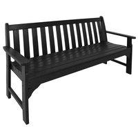 POLYWOOD GNB60BL Black 60 1/2 inch x 24 inch Vineyard Bench