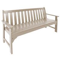 POLYWOOD GNB60SA Sand 60 1/2 inch x 24 inch Vineyard Bench