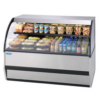 Federal SSRVS-7733 77 inch Combination Service Top Over Refrigerated Self-Serve Merchandiser - 33 inch High