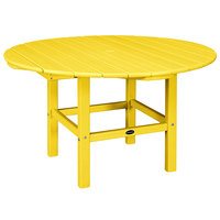 POLYWOOD RKT38LE Lemon 38 inch Round Kids Dining Table