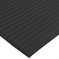 San Jamar KM4360BK 3' x 60' Black Anti-Fatigue Vinyl Sponge Floor Mat Roll - 3/8 inch Thick