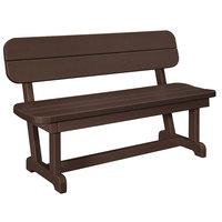 POLYWOOD PB48MA Mahogany 48 inch x 20 1/2 inch Park Bench