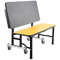 National Public Seating TGB60MDPE ToGo Mobile 60 inch Bench with MDF Core and ProtectEdge