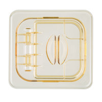 Cambro 60HPL150 H-Pan 1/6 Size Amber High Heat FlipLid