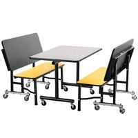 National Public Seating TGBTH3048MDPE 30 inch x 48 inch Mobile Booth with MDF Core ProtectEdge
