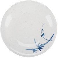 Thunder Group 1305BB Blue Bamboo 5 1/4 inch Round Melamine Plate - 12/Pack