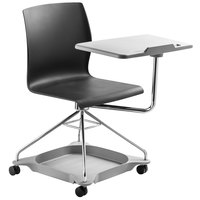 National Public Seating COGO-10 Go Series Black Mobile Tablet Chair
