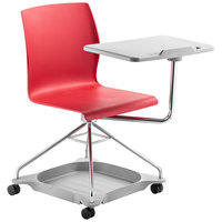National Public Seating COGO-40 Go Series Red Mobile Tablet Chair