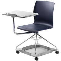 National Public Seating COGO-04 Go Series Blue Mobile Tablet Chair