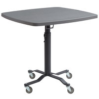 National Public Seating CTTW36SBM Cafe Time II 36 inch Square Mobile Table with Blow Molded Top