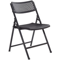 National Public Seating 1410 AirFlex Black Polypropylene Premium Folding Chair