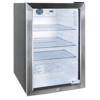 Excellence EMM-3HC Black Countertop Display Refrigerator with Swing Door