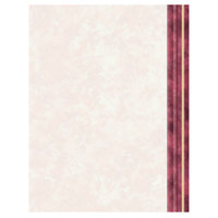 8 1/2 inch x 11 inch Menu Paper Right Insert - Ribbed Marble Border - 100/Pack