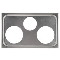 Vollrath 19193 3 Hole Steam Table Adapter Plate - 4 7/8 inch and 6 3/8 inch