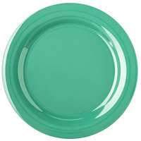 Carlisle 4300209 Durus 10 1/2 inch Meadow Green Narrow Rim Melamine Plate - 12/Case