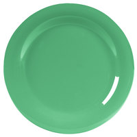 Carlisle 4300209 Durus 10 1/2 inch Meadow Green Narrow Rim Melamine Plate - 12/Case