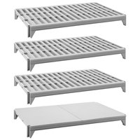 Cambro CPSK2472VS4480 Camshelving® Premium Series Stationary Shelf Kit with 3 Vented Shelves and 1 Solid Shelf - 72 inch x 24 inch