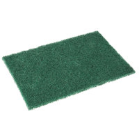 Royal Paper S960 9 inch x 6 inch Dark Green Scouring Pad - 10/Pack