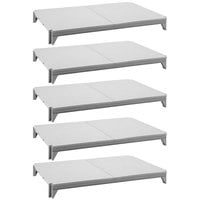 Cambro CPSK2472S5480 Camshelving® Premium Series Stationary Shelf Kit with 5 Solid Shelves - 72 inch x 24 inch