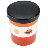 Choice 32 oz. Double Poly-Coated Paper Soup / Hot Food Cup with Vented Paper Lid   - 250/Case