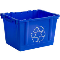 Lavex Janitorial 14 Gallon Blue Curbside Recycling Bin
