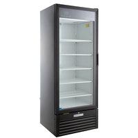 Beverage-Air MT23-1B-18 29 1/2 inch Marketeer Series Black Refrigerated Glass Door Merchandiser with Left Hinged Door and LED Lighting