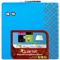 Quartet 36629-BU Neon 14 inch x 14 inch Blue Combination Board