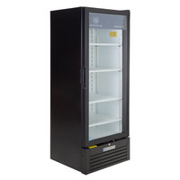 Beverage-Air MT12-1B-18 25 inch Marketeer Series Black Refrigerated Glass Door Merchandiser with Left Hinged Door and LED Lighting