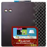 Quartet 36626-BK Neon 14 inch x 14 inch Black Combination Board