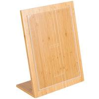 Cal-Mil 1103-811-12 Bamboo Menu Displayette - 8 1/2 inch x 11 inch