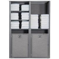 Grosfillex US173289 Sunset Platinum Gray Double Unit Towel Valet