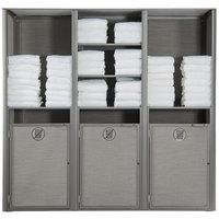 Grosfillex US174289 Sunset Platinum Gray Triple Unit Towel Valet