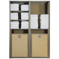 Grosfillex US173599 Sunset Bronze Double Unit Towel Valet