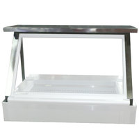 Beverage Air 00C23-094D Stainless Steel Single Overshelf with Side Guards - 48 inch x 14 inch