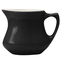 Hall China 30195W101 Black 3.5 oz. Empire Creamer - 24/Case